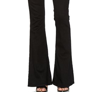 Current/Elliott The Low Bell Black Flare Jeans